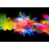 Fototapete Kunst Tapete Farbbombe Holi indisches Farbenfest Pulver bunt   no. 2424