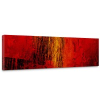 Leinwandbild Paint it Red abstrakt 3D Wand Rot braun Hintergrund | no. 103