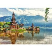 Fototapete Bali Tapete Bali Tempel Wasser Natur grau | no. 248