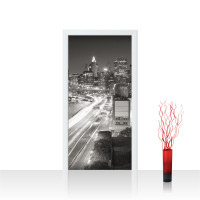 Türtapete - Skyline Straße New York Lightning   no. 553