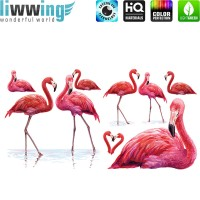 Wandsticker - No. 4839 Wandtattoo Sticker Flamingo Zoo Vögel Tiere