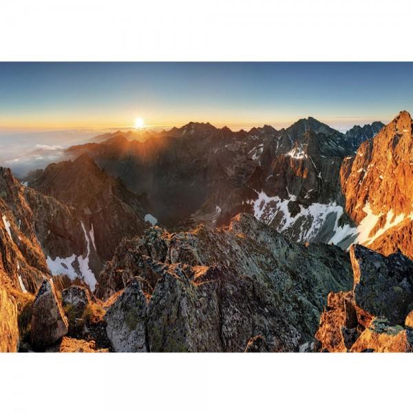 Fototapete Berge Tapete Abendhimmel, Gebirge, Hochalpen, Sonnenaufgang natural | no. 3351