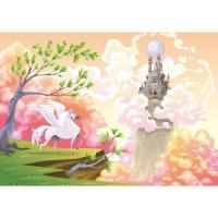 Fototapete Magic Pegasus Kindertapete Tapete Kinderzimmer Kindertapete Mädchen Einhorn Märchen Pastell bunt | no. 86