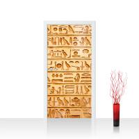 Türtapete - Hyroglyphen Alt Abstrakt Ornamente Symbole | no. 180