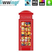 Wandsticker Minions - No. 4740 Wandtattoo Sticker Bob Kevin Gru Stuart Scarlett Herb Madge Trickfilm Cartoons
