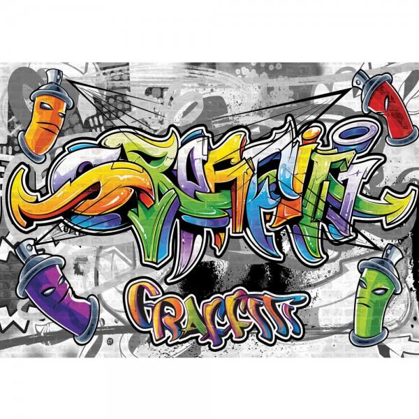 Fototapete Graffiti Tapete Kindertapete Graffiti Dosen Schriftzug bunt   no. 675