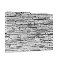 Leinwandbild Asian Stone Wall - grau Steinoptik Steinwand Stonewall Steine | no. 127