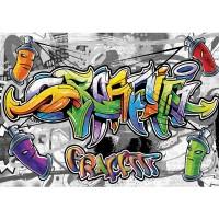 Fototapete Graffiti Tapete Kindertapete Graffiti Dosen Schriftzug bunt | no. 675