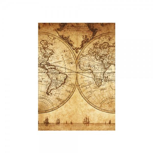 Fototapete Vintage World Map Geographie Tapete Weltkarte Atlas Vintage Atlas alte Karte alter Atlas braun | no. 76