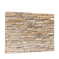 Leinwandbild Asian Stone Wall - natural Steinoptik Steinwand Stonewall Steine | no. 130