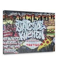 Leinwandbild Kinder Graffiti Schriftzug USA | no. 600
