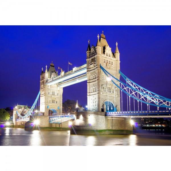 Fototapete London Tapete London Tower Bridge City Miasto Skyline blau | no. 1221