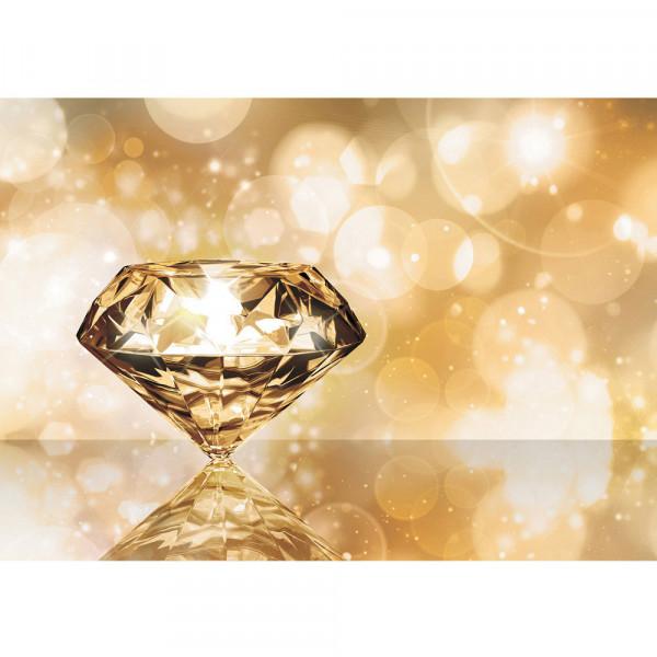 Fototapete Illustrationen Tapete Diamant Glamour gelb | no. 270