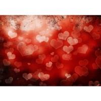 Fototapete Kunst Tapete Abstrakt Herz Liebe Romantisch Rot orange | no. 212