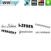 Wandsticker - No. 4842 Wandtattoo Sticker Leben Schrift Wörter Spruch Sprüche