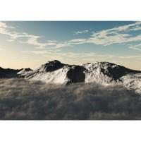 Fototapete Gebirge Tapete Gebirge Himmel Wolken Sonne anthrazit | no. 244