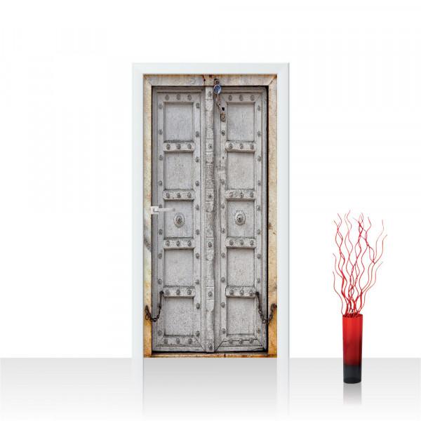 Türtapete - Sonstiges Tür Holz Antik Alt Kette   no. 4283