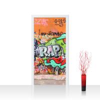 Türtapete - Graffiti Stone Wall Kinderzimmer Graffiti Streetart Graffitti 3D | no. 32