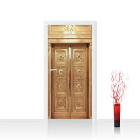Türtapete - Sonstiges Aufzug Lift Fahrstuhl Tür Alt Messing | no. 4291