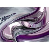Fototapete Liquid Climax Kunst Tapete 3D Digital Art Abstrakt Schwung blau rot lila | no. 10