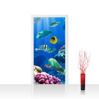 Türtapete - Underwater World Aquarium Unterwasser Meer Fische Riff Korallenriff | no. 33