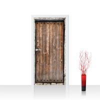 Türtapete - Sonstiges Tür Holz Alt Antik Maserung Stein | no. 4285