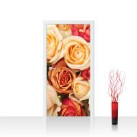 Türtapete - Blumen Rose Blüten Natur Liebe Love Blüte Gelb | no. 191