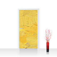 Türtapete - Wall of yellow shades Wand Spachtel Hintergrund farbige Wand gelb | no. 107