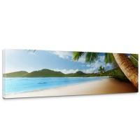 Leinwandbild Lonely Beach Strand Meer Palmen Beach 3D Ozean Palme | no. 4
