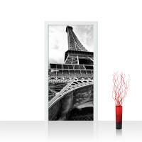 Türtapete - Eiffelturm Paris Wolken Vintage | no. 635