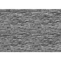 Fototapete Asian Stone Wall Steinwand Tapete Steinwand Steinoptik Stein Steine Wand Wall grau | no. 138