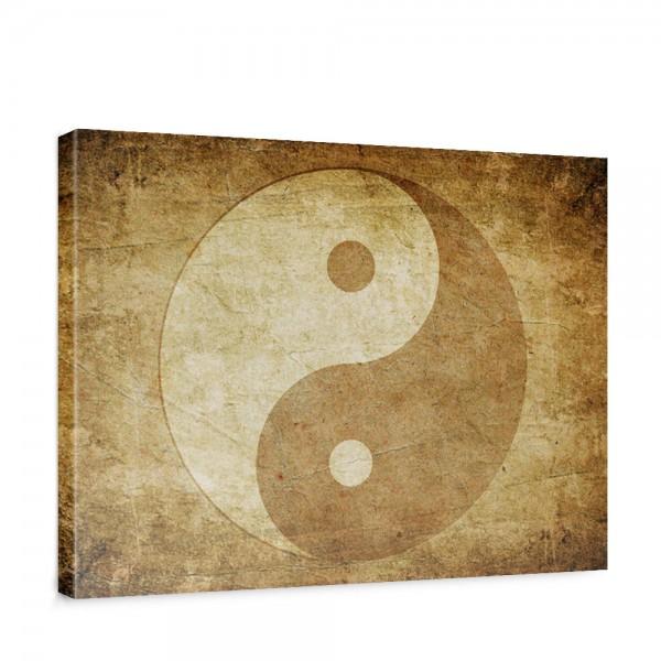 Leinwandbild Abstrakt Yin Yang Beige Ruhe | no. 213