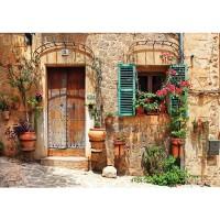 Fototapete Stadt Tapete Mittelmeer, mediterran, Haus, Tür natural | no. 3298