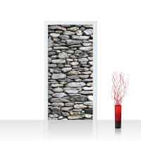 Türtapete - Rocky Stone Wall Steinwand Steine Wand Wall 3D | no. 72