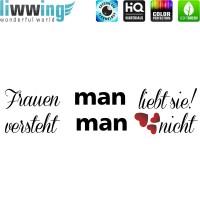 Wandsticker - No. 4847 Wandtattoo Sticker Frauen Frauensprüche Geschenk für Frauen Schrift Spruch Sprüche