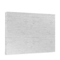 Leinwandbild White Brick Stone Wall Steinoptik Steinwand Stonewall Steine weiß | no. 137