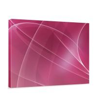 Leinwandbild Abstrakt Wellen Entspannung Pink | no. 211