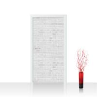 Türtapete - White Brick Stone Wall Steinwand weiß Steinoptik Verblendsteine Wandverblender | no. 137