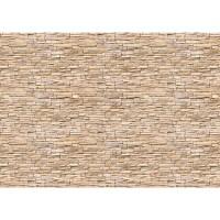 Fototapete Asian Brick Stone Wall Steinwand Tapete Kleine Steine Asia Steine hell beige Asian Stone Wall beige | no. 78