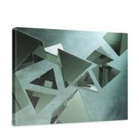 Leinwandbild Abstrakt Hindergrund Dreieck | no. 216