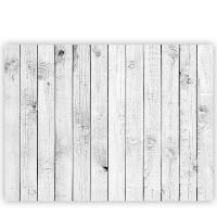 Leinwandbild White painted Wooden Wall Holzoptik Holzwand, Holzpaneel | no. 85