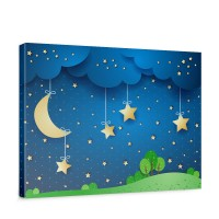 Leinwandbild Dreaming Night Kinder Sternenhimmel Stars Sterne Leuchtsterne | no. 120