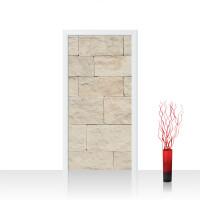 Türtapete - Steinwand Tapete Steinoptik Sandstein Steine Wand 3D Steintapete beige | no. 4300