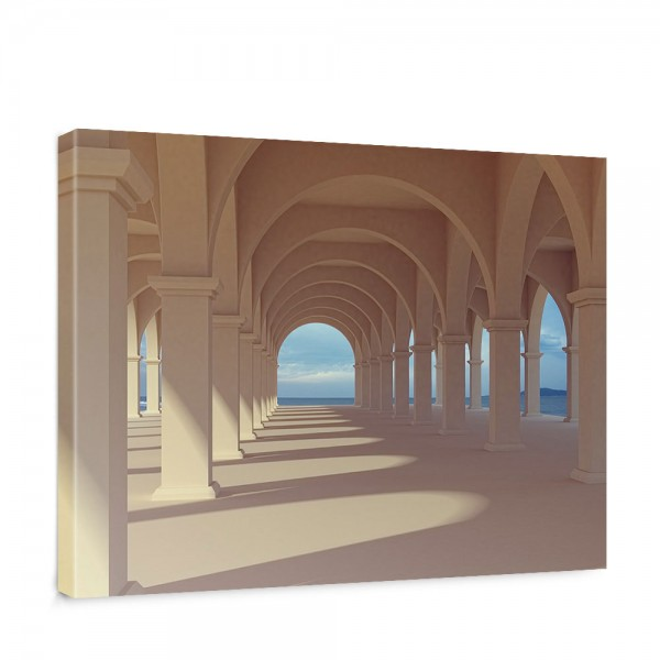 Leinwandbild Romantic Arcade Romantic 3D Perspektive Säulengang Arkade   no. 69