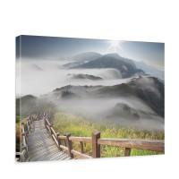 Leinwandbild Stairway from Mountain Berge Aussicht Alpen Urlaub wandern | no. 53