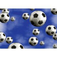 Fototapete Fußball Tapete Fußbälle Himmel Wolken blau | no. 529