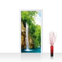 Türtapete - Wasserfall Bäume | no. 377