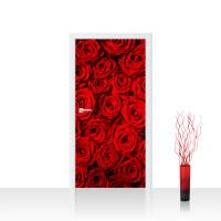 Türtapete - Blumen Rose Blüten Natur Liebe Love Blüte Rot | no. 190