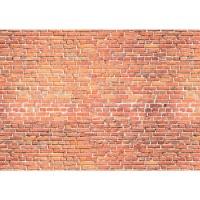 Fototapete Red Brick Stone Wall - ENDLOS anreihbare Tapete Steinwand Steinoptik Steine Wand Wall rot | no. 136