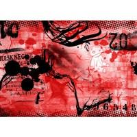 Fototapete Red Graffiti Wall Kindertapete Tapete Kinderzimmer Kindertapete Teen Jugendzimmer Graffiti rot | no. 36